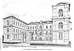 Le nouvel Hôtel de Ville, façade et cour d'honneur