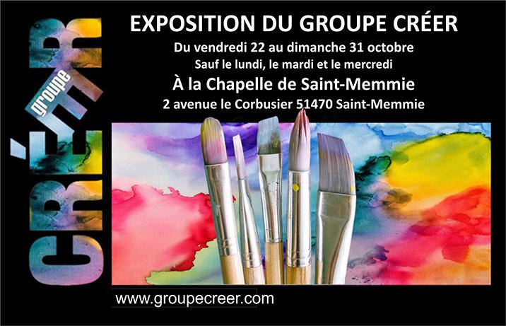 Saint-Memmie expose le groupe Créer.